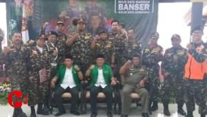 Foto : Ketua Ansor kab malang (tengah) dalam sebuah acara