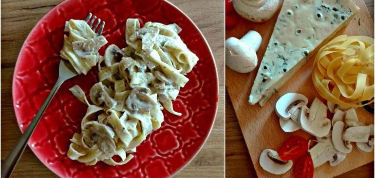 TALJATELE u sosu od gorgonzole i pečuraka