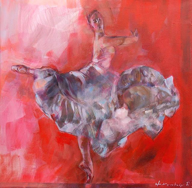 Baletnica 164a, olej na płótnie
