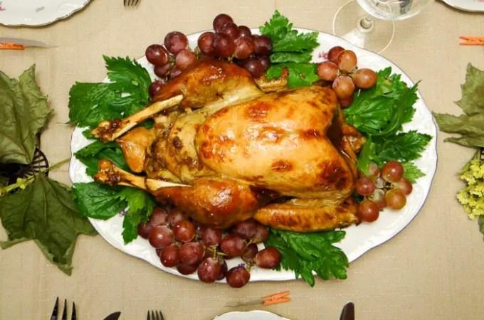 Receita de Peru de Natal - suculento e muito delicioso