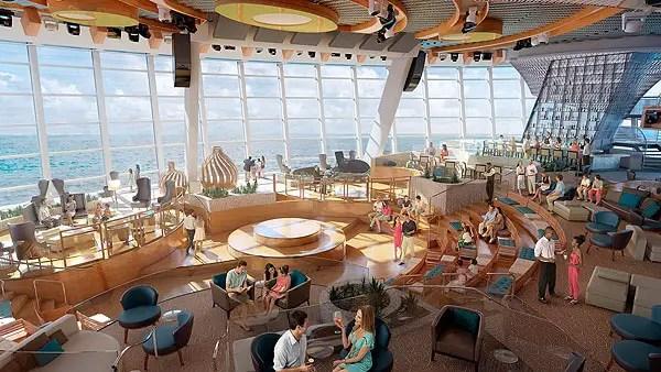 O conceito revolucionário Two70º, é um grande salão com vários andares que certamente se tornará um dos locais mais emblemáticos a bordo da classe Quantum.  O espaço recebeu esse nome por sua magnífica vista de 270 graus por meio de janelas panorâmicas que vão do chão até o teto, abrangendo quase três decks na popa do navio.  O Two70º mescla entretenimento e tecnologia. Durante o dia é uma uma sala de estar confortável e moderna para sentar e relaxar, enquanto os hóspedes apreciam o mar.  Quando o sol se põe e as luzes diminuem, e o espaço se transforma gradualmente, oferecendo shows e eventos multidimensionais, que levas a plateia a interagir com uma combinação de artistas, como trapezistas de alta performance, combinados com vídeos e cenários digitais projetados nas paredes.