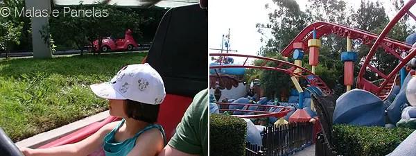 Altura brinquedos atrações Disney