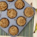 Muffin de Banana com crocante de aveia
