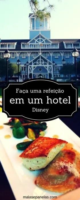 Faça uma refeição em um hotel Disney