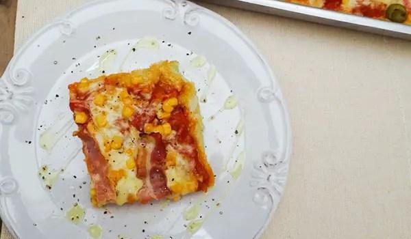 Receita: Massa de couve-flor para pizza