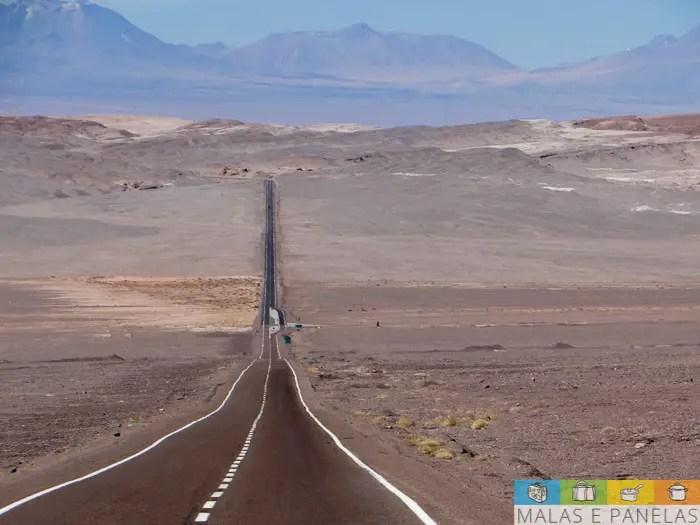 Estrada Calama a San Pedro de Atacama
