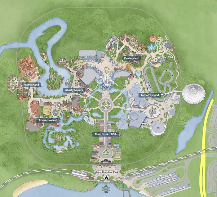 mapa magic kingdom