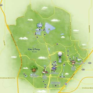 mapa walt disney world