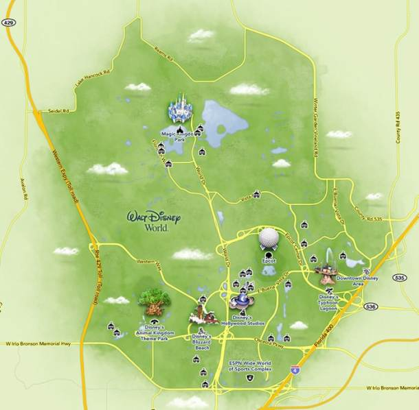 mapa walt disney world
