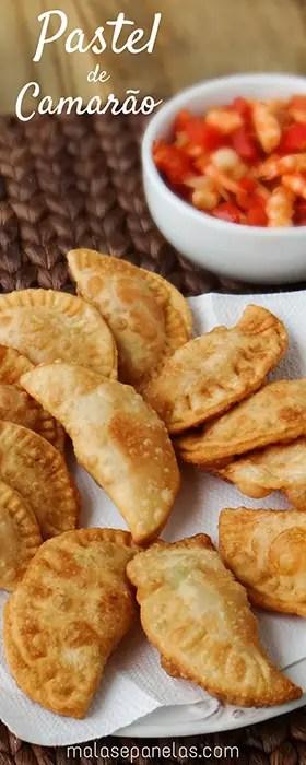 Pastel de Camarão | Malas e Panelas