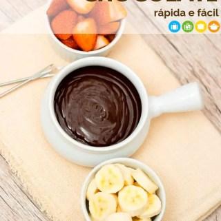Receita de fondue de chocolate fácil e rápida