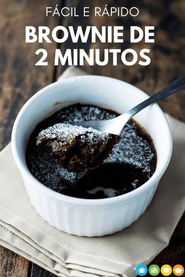 Brownie de microondas #brownie #microondas