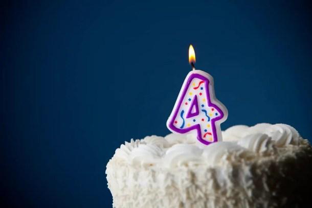 Bolo de aniversário - Shutterstock