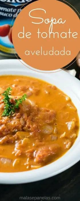 Sopa de Tomate Aveludada | Malas e Panelas