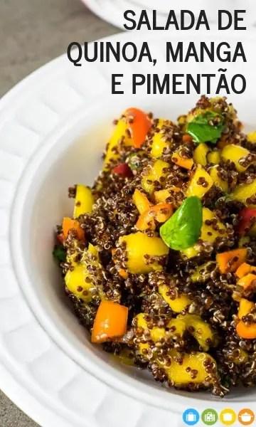 Salada de Quinoa, Manga e Pimentão   Malas e Panelas