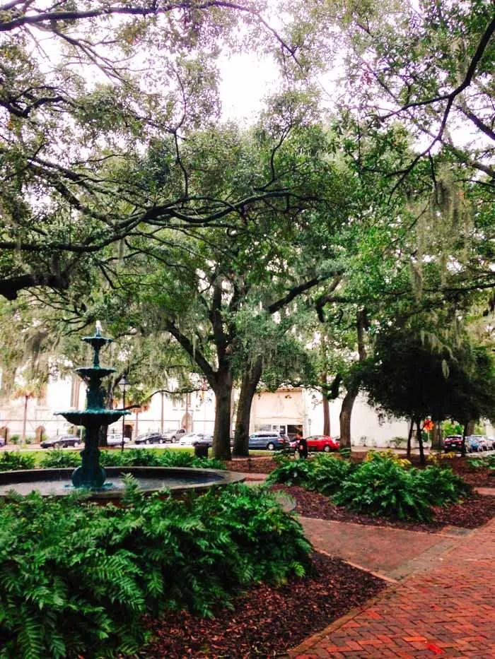 Praça em Savannah