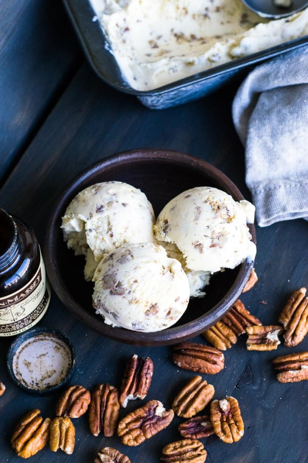 Sorvete de Nozes Amanteigadas - Butter Pecan