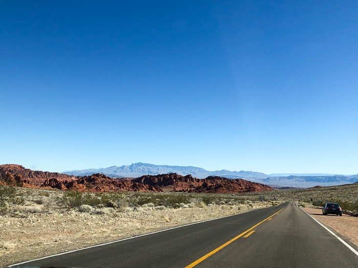 Chegando no Valley of Fire State Park
