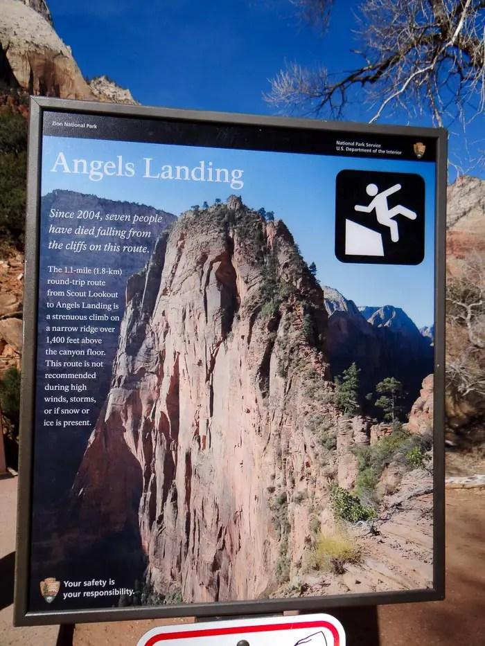 Cuidados para fazer a trilha Angels Landing Zion National Park