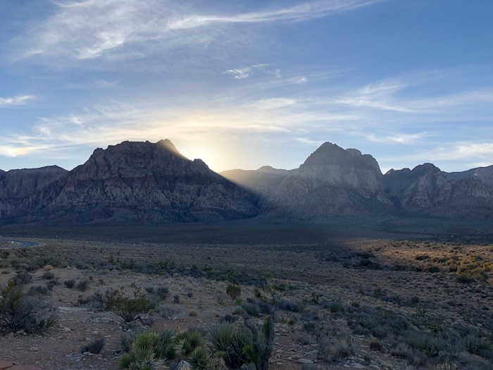 Pôr do Sol incrível no Red Rock Canyon