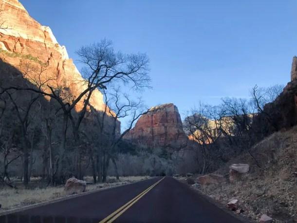 Parque Nacional de Zion - Estrada cênica