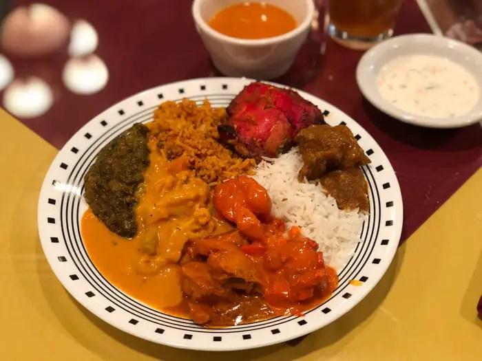 Comida Indiana do Delhi Palace, em Flagstaff