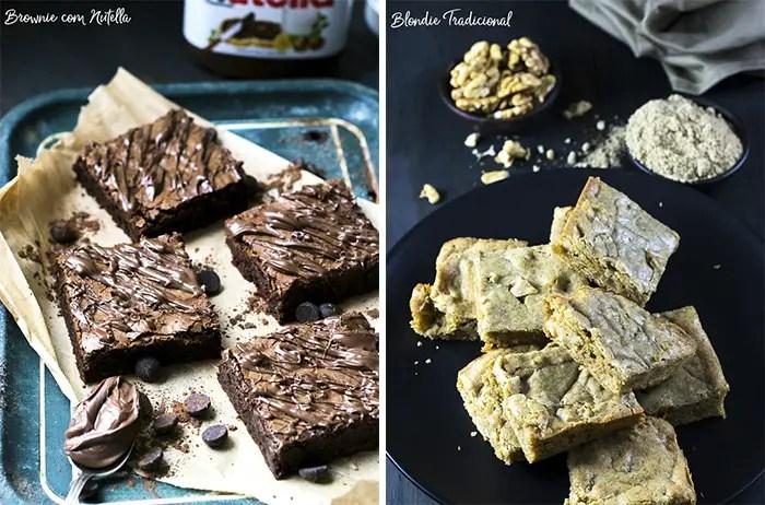 Brownie de Nutella e Blondie Tradicional