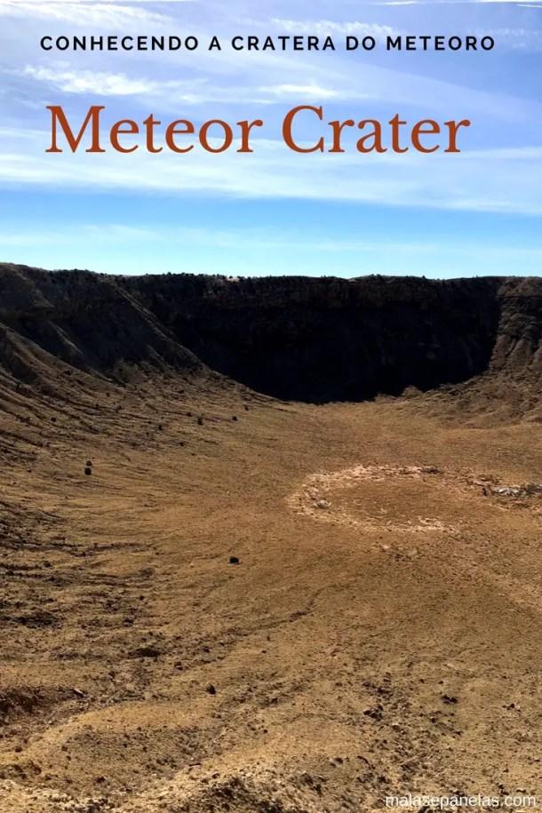 A incrível Meteor Crater, perto de Winslow, Arizona