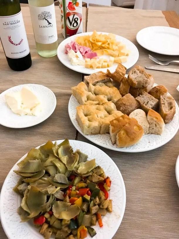 Comida em Roma