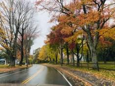 Estrada secundária na Nova Inglaterra