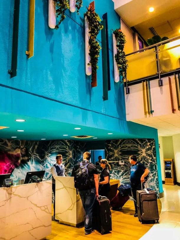 Check-in no Sheraton Miami Airport