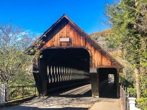 Ponte coberta em Woodstock Vermont