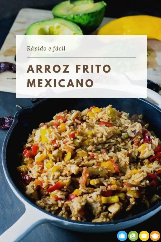 Arroz Frito Mexicano - Receita rápida e fácil