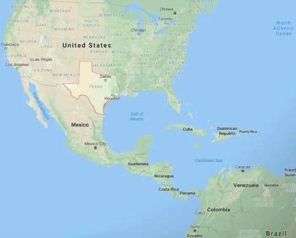Onde fica o Texas