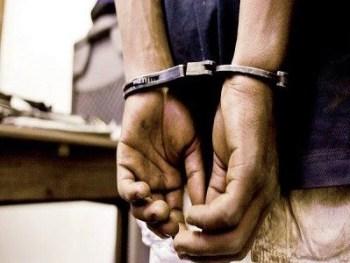 Arrested.