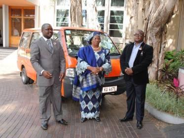 Joyce Banda & Oswald Lutepo