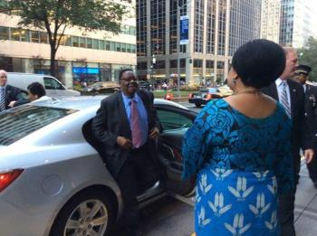 Peter Mutharika with Patricia Kaliati