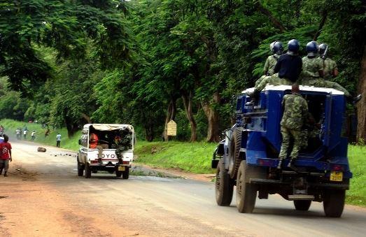 Malawi Police riot vehicle