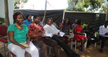 Malawi world vision drills staff on Child Protection