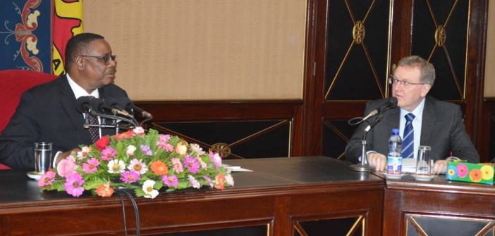 Scotland Secretary of State David Mundell and Malawi President Peter Mutharika meet