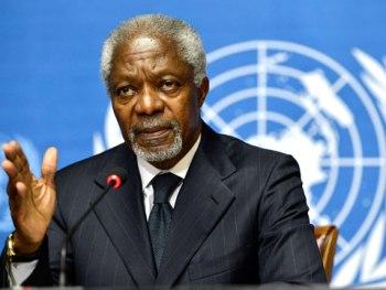 Kofi Annan drills African leaders.