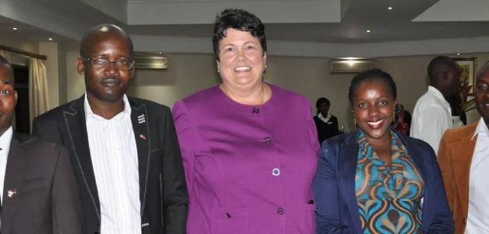 US Ambassador with the four Malawians