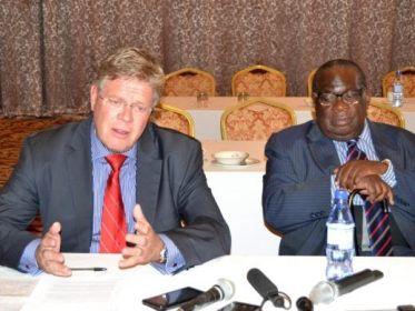 German Ambassador Peter Woeste & Malawi Finance Minister Goodall Gondwe