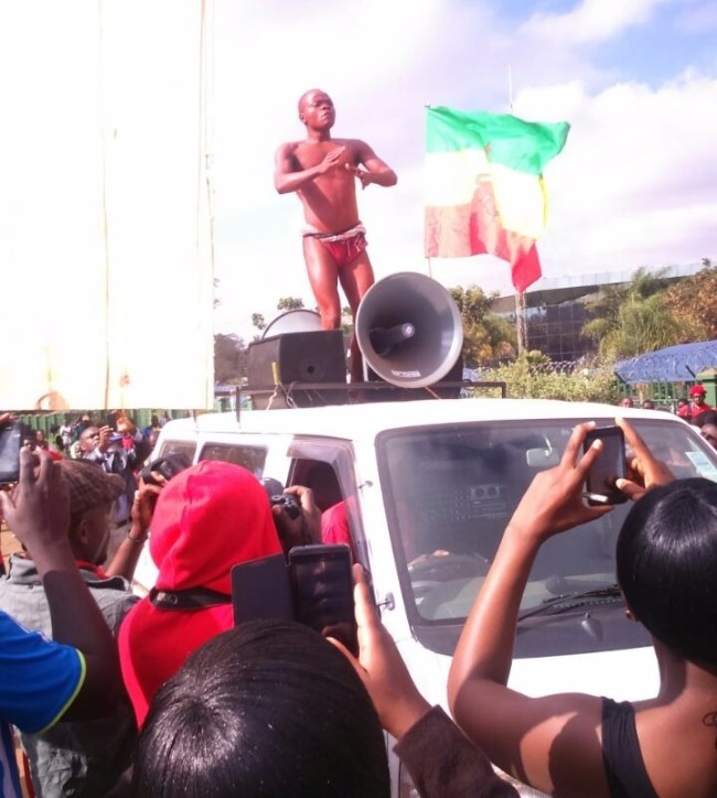 Malawi naked protest