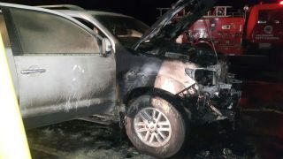 Jessie Kabwila vehicle up in flames (3)