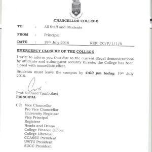 Malawi Police sets ablaze University Student (2)