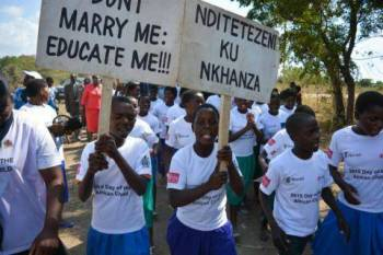 Girls are mostly into child marriages. (Image credit: www.peacetimes.news)