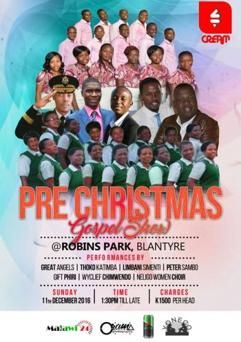 Massive show on 11th December in Blantyre.