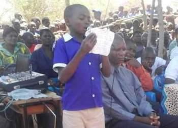 Khwisa Primary School student