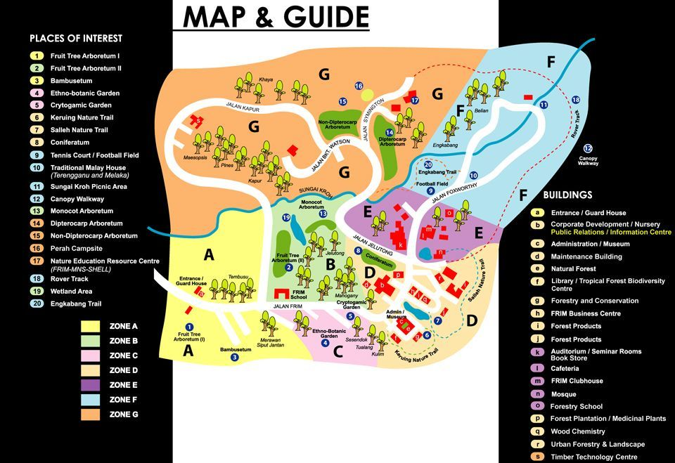 Malaysia Map Directory and Malaysia Map Information collection: Malaysia FRIM Map and Guide